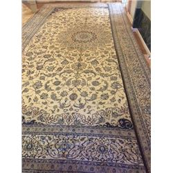 Auction Highlight: Palace Size Pure Silk Persian Nain 34x20