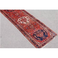 Exquisitely Fine Quality Persian Heriz Runner