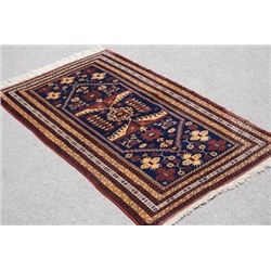 NICELY CONTRASTED VIVID COLORS BALOOCH DESIGN BERGANO RUG