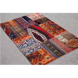 HANDMADE SEMI ANTIQUE TURKISH KILIM