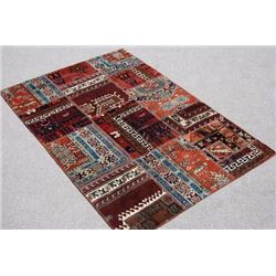 SPECTACULAR HANDMADE SEMI ANTIQUE TURKISH PATCHWORK KILIM