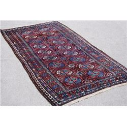 Splendid Dark Toned Handmade Semi Antique Persian Kurdish