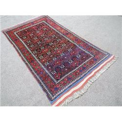 Hand Knotted Persian Kurdish Rug 4x7