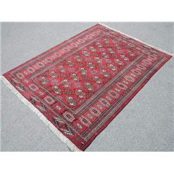 Hand Made Turkmen Rug, 4.7 X 6.0 feet ""