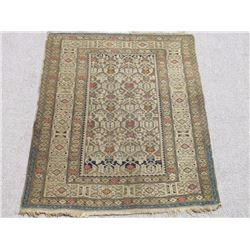 Charming Handmade Antique Wool on Wool Shirvan 4x5
