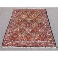 Colorful and Beautiful Tribal Desert Semi Antique Persian Bakhtiari Rug