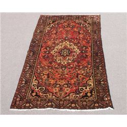 Gorgeous Warm Toned Semi Antique Persian Borjaloo Rug