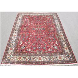 Handmade Allover Design Semi Antique Persian Tabriz 8x11