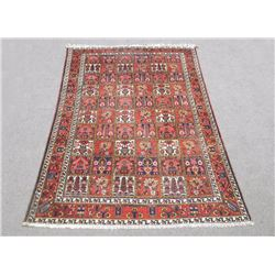 Handmade Four Seasons Design Semi Antique Persian Bakhtiari