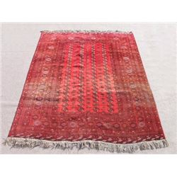Very Beautiful Semi Antique Turkmen Design Afghan Rug 9x11