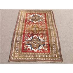 Special Russian Design Hand Woven Semi Antique Kazak Rug 9x6