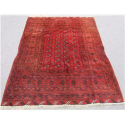 Hand Knotted Semi Antique Wool on Wool Persian Turkmen 7x9