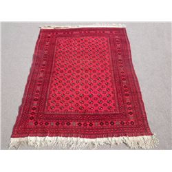 Hand Knotted Allover Semi Antique Afghan Turkmen 6x9 ft