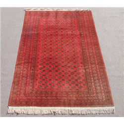 Very Collectible Handmade Semi Antique Turkman Design Afghan Rug 7x10