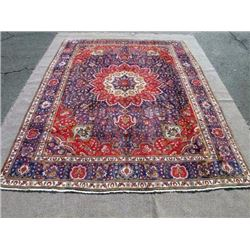 Very Rare Authentic Persian Mashhad Rug 13x10