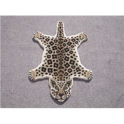 Modern Stylish Hand-Tufted Leopard Skin Shape Wool Rug 2x3