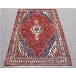 Quality Hand Woven Semi Antique Persian Hosseinabad Rug
