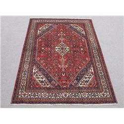 Beautiful Handmade Semi Antique Persian Hosseinabad Rug