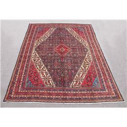 Simply Gorgeous Semi Antique Persian Hosseinabad Rug 10x14