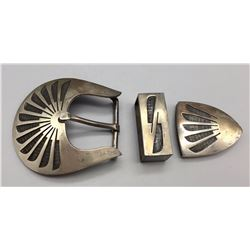 3 Piece Hopi Style Belt Buckle Set