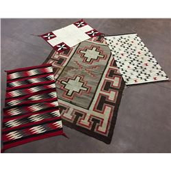 Bargain Lot of 4 Navajo Textiles