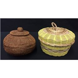 NW Coast (Alaskan) and Chippewa Baskets