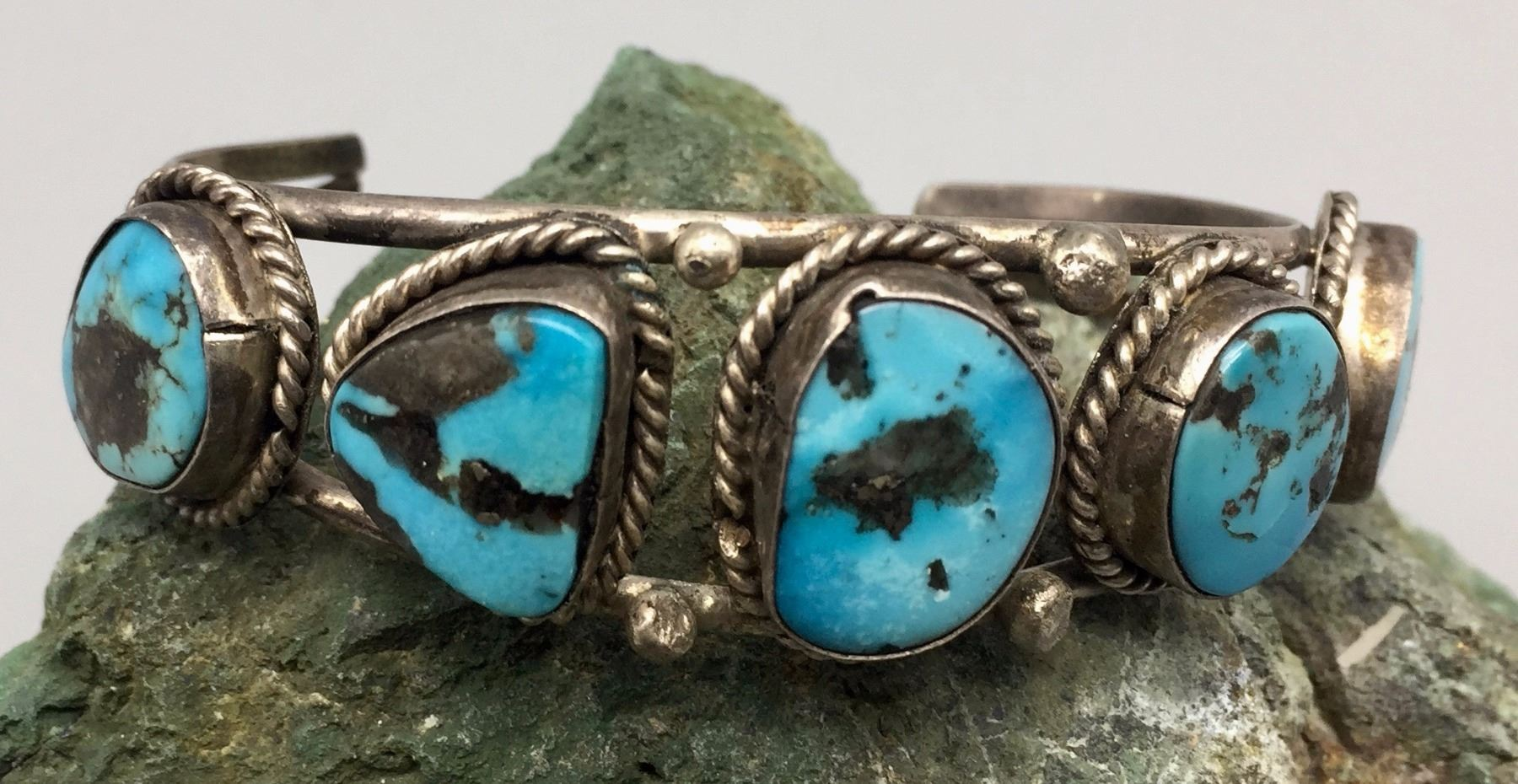 navajo lot bracelet auctions and turquoise number sale silver lots