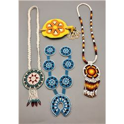 Beadwork Necklaces and Hairpiece