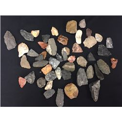 Prehistoric Scrapers, Knives, Knapping Stones, Etc.
