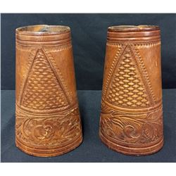 Vintage Padgitt Bros. Leather Cowboy Cuffs