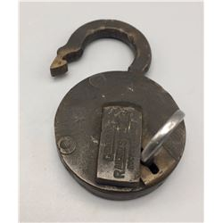 Antique Ames Sword Co. Lock with Key