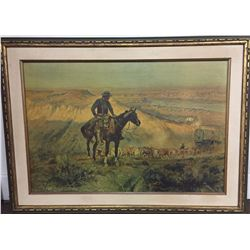 Charles Russell Canvas Transfer Print