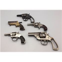 Group of 5 Antique Parts Pistols - Pre 1898s