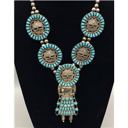 Larry Moses Begay Sunface Necklace