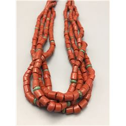 Vintage Four Strand Coral Necklace