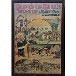 Vintage Buffalo Bills Wild West Poster
