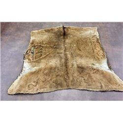 Antique Elk Hide Blanket