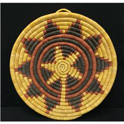 Hopi Coiled Plaque - Basket