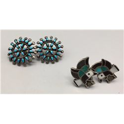 Pair of Vintage Zuni -Style Earrings