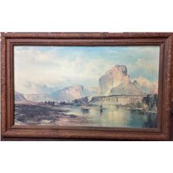 Vintage Moran Canvas Transfer Print