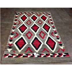 Large Old Ganado Style Navajo Textile - 1920s