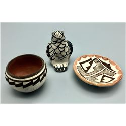 Group Of 3 Vintage Acoma Pots