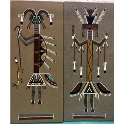 Pair Of Vintage Navajo Sandpaintings