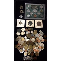 Group of Hundreds of Foreign Coins