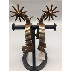 Old California Style Spurs Dated 1923