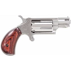 """NAA NAA22MSP 22 Magnum Ported Single 22 Winchester Magnum Rimfire (WMR) 1.1"""" 5 Rosewood Stainless"""