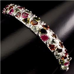 Natural Fancy Colors Tourmaline Bangle