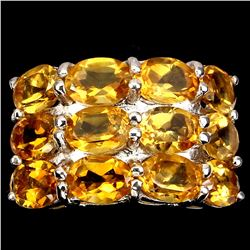 Natural  Yellow Citrine 35 Carats Ring