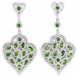 NATURAL AAA GREEN CHROME DIOPSIDE Earrings