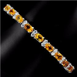 Natural Golden Yellow Citrine Bracelet